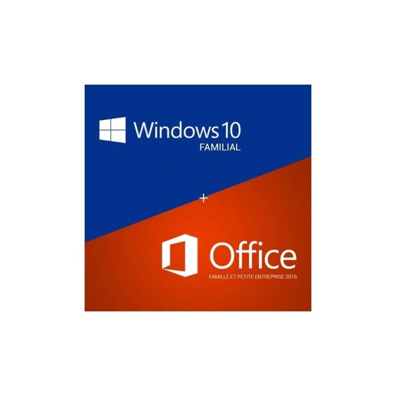 Acheter windows 10 familial et office 2016 famille petites - Pack office famille et petite entreprise ...