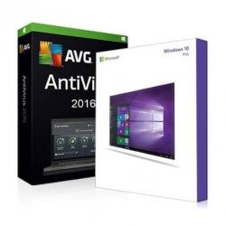 Windows 7 Professionnel + Antivirus AVG protection 2016