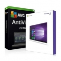Windows 7 Professionnel + Antivirus AVG protection 2016