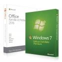 Windows 7 Familiale + Office 2016 Famille et Petites Entreprises