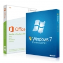 Windows 7 Professionnel + Office 2013 famille et étudiant