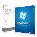 Windows 7 Professionnel + Office 2016 famille et étudiant