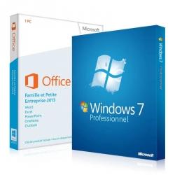 Windows 7 Professionnel + Office 2013 Famille et Petite Entreprise