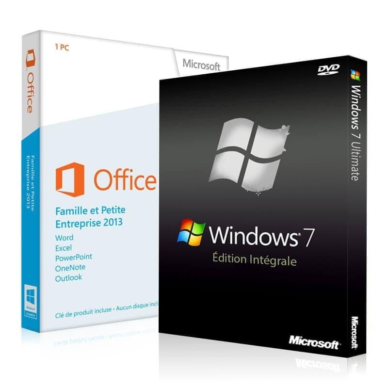 Windows 7 Intégrale + Office 2013 Famille & Petite Entreprises