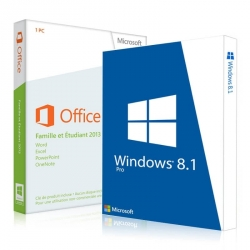 Windows 8.1 Professionnel + Office 2013 famille et étudiant