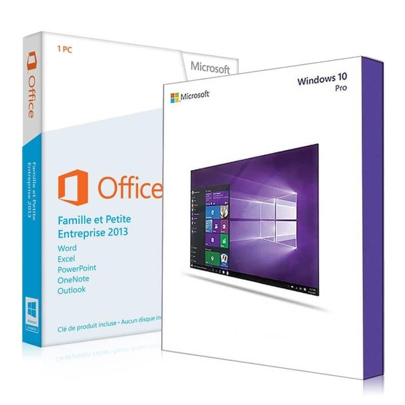 Pack windows 10 pro avec office 2013 famille et petites - Cle activation office professional plus 2013 ...