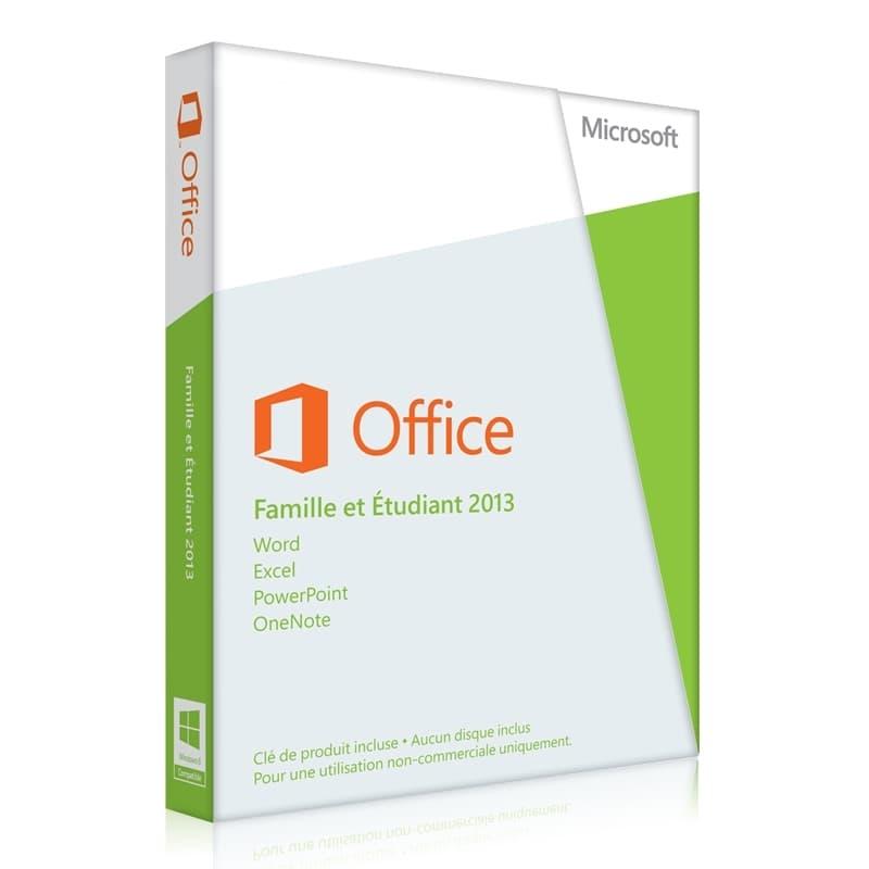 Microsoft Office 2013acheter Microsoft Office 2013 Famille Et étudiant