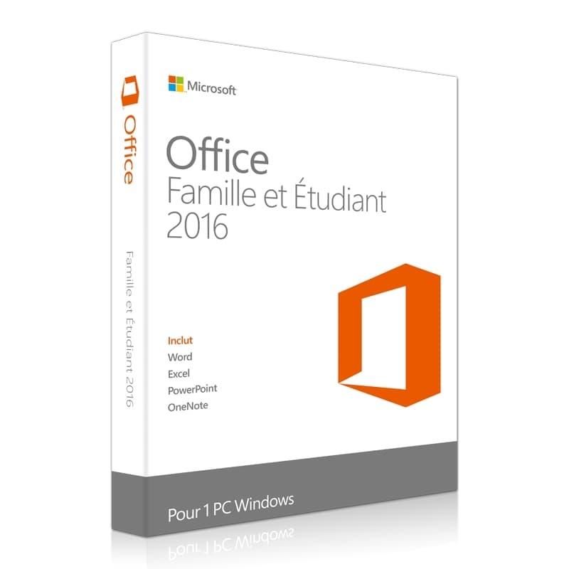 Office 2016 Famille & Etudiant