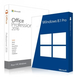 Windows 8.1 Professionnel + Office 2016 Professionnel plus