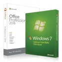 Windows 7 Familiale + Office 2016 professionnel plus