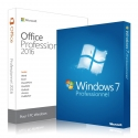 Windows 7 Professional + Office 2016 Professionnel plus