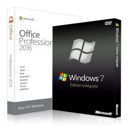 Windows 7 intégrale + Office 2016 Professionnel plus