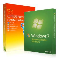 Windows 7 Familiale + Office 2010 famille & petites entreprises