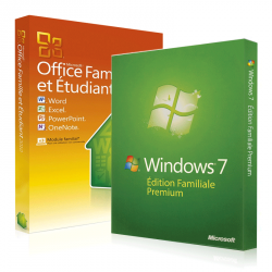 Windows 7 Familiale + Office 2010 famille & etudiant