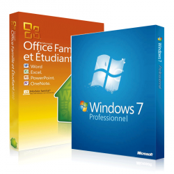 Windows 7 professionnel + Office 2010 Famille et Etudiant