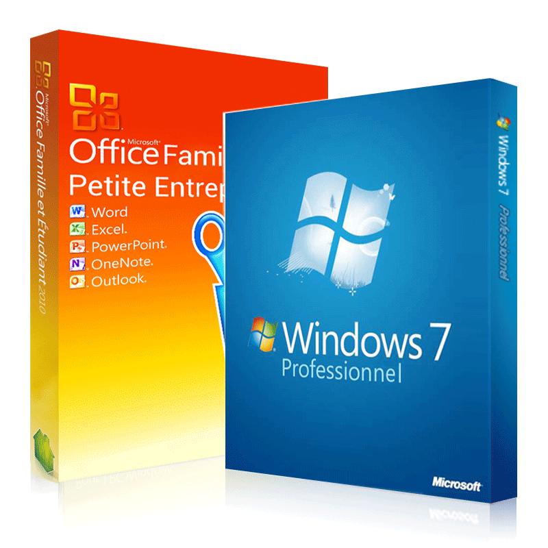 Windows 7 professionnel office 2010 famille et petites - Cle activation office 2010 famille et petite entreprise ...