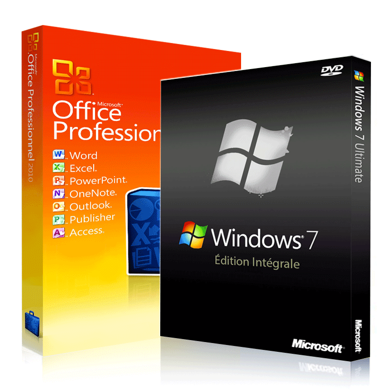 Windows 7 intégrale + Office 2010 Professionnel