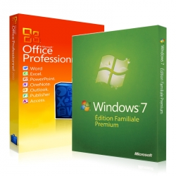 Windows 7 Familiale + Office 2010 Professionnel