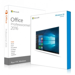 Windows 10 Famille + Office 2016 Professionnel Plus