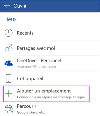 2-installer les applications Office Mobile sur Smartphone et Tablette Android