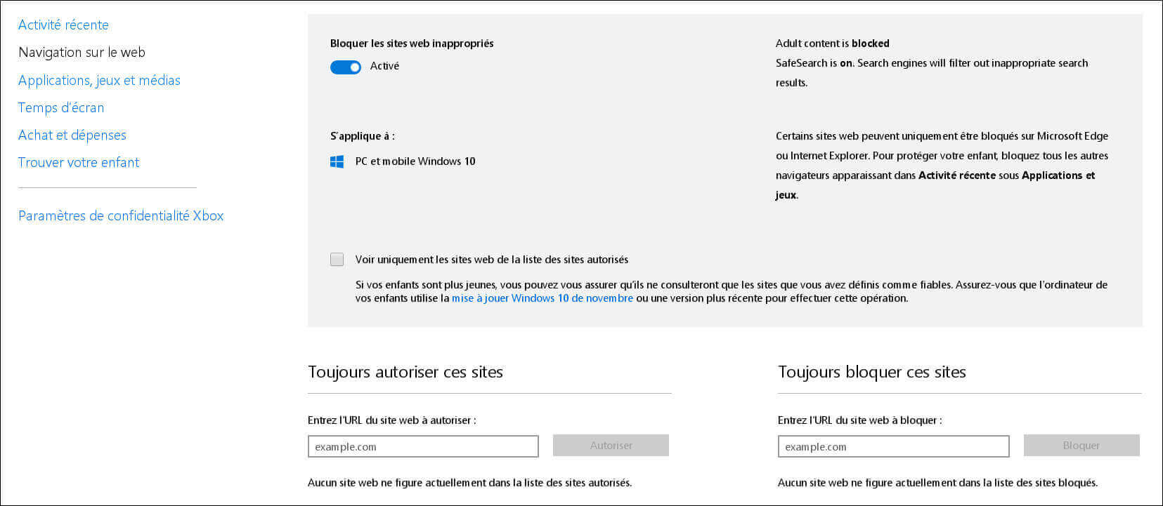 Controle-parental-Windows10-bloquer-site-web