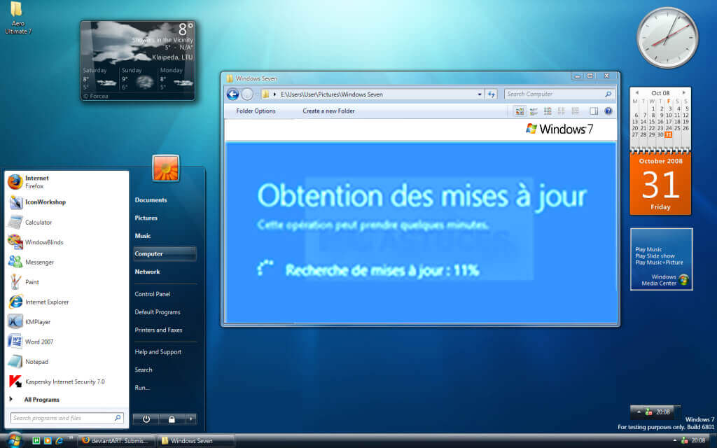 Rapidité et performance de windows 7 pro