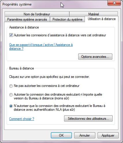 Comment se connecter distance un autre ordinateur sur windows 7 - Activer connexion bureau a distance windows 7 ...