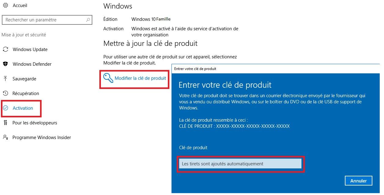 comment mettre niveau windows 10 famille vers windows 10 pro
