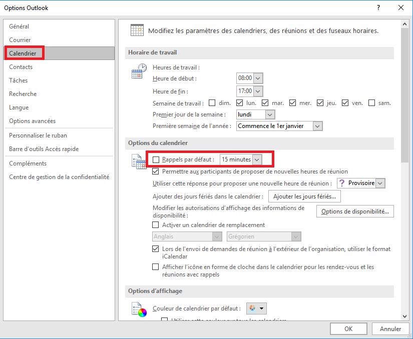 Supprimer Calendrier Outlook.Desactiver Les Rappels Du Calendrier Outlook Et Les