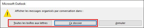 2-grouper les messages en conversation dans Outlook 2016