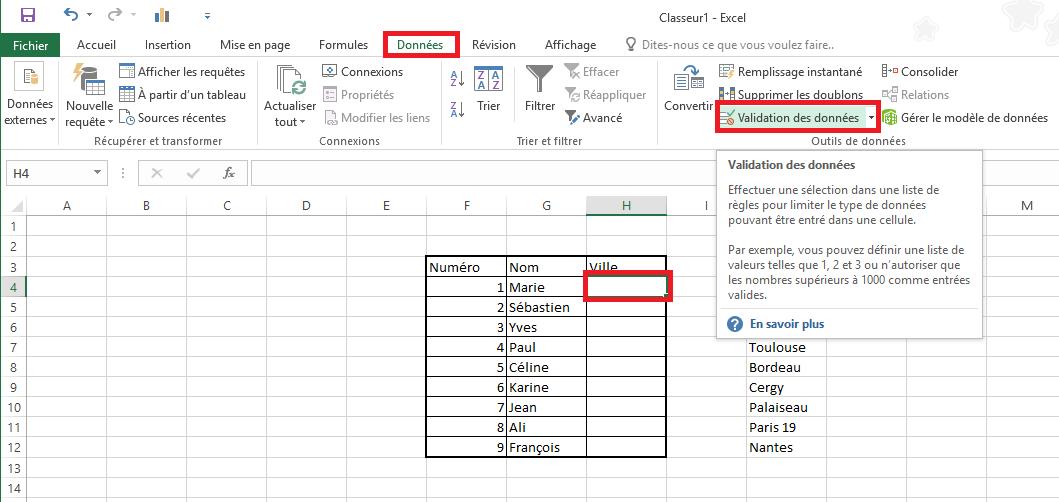 Comment Ajouter Une Liste Deroulante A Une Cellule Dans Excel 2016