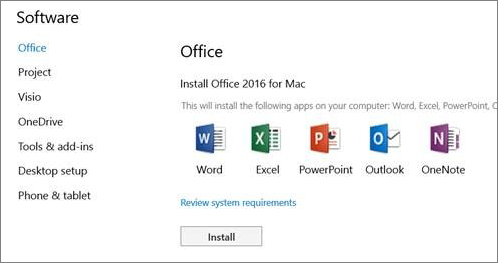 installer Office 2016 pour Mac-1