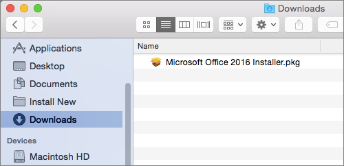 2-installer Office 2016 pour Mac