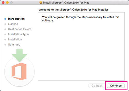 3-installer Office 2016 pour Mac