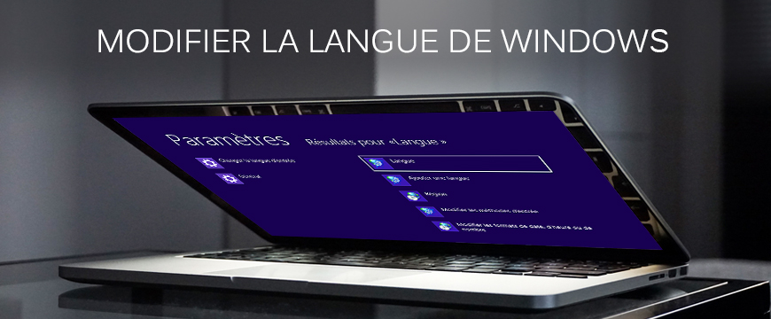 Modifier la langue de Windows 7